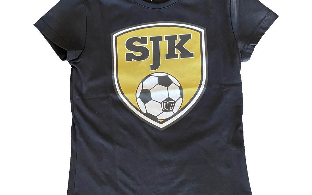 T-paita SJK-logolla, naisten malli, musta