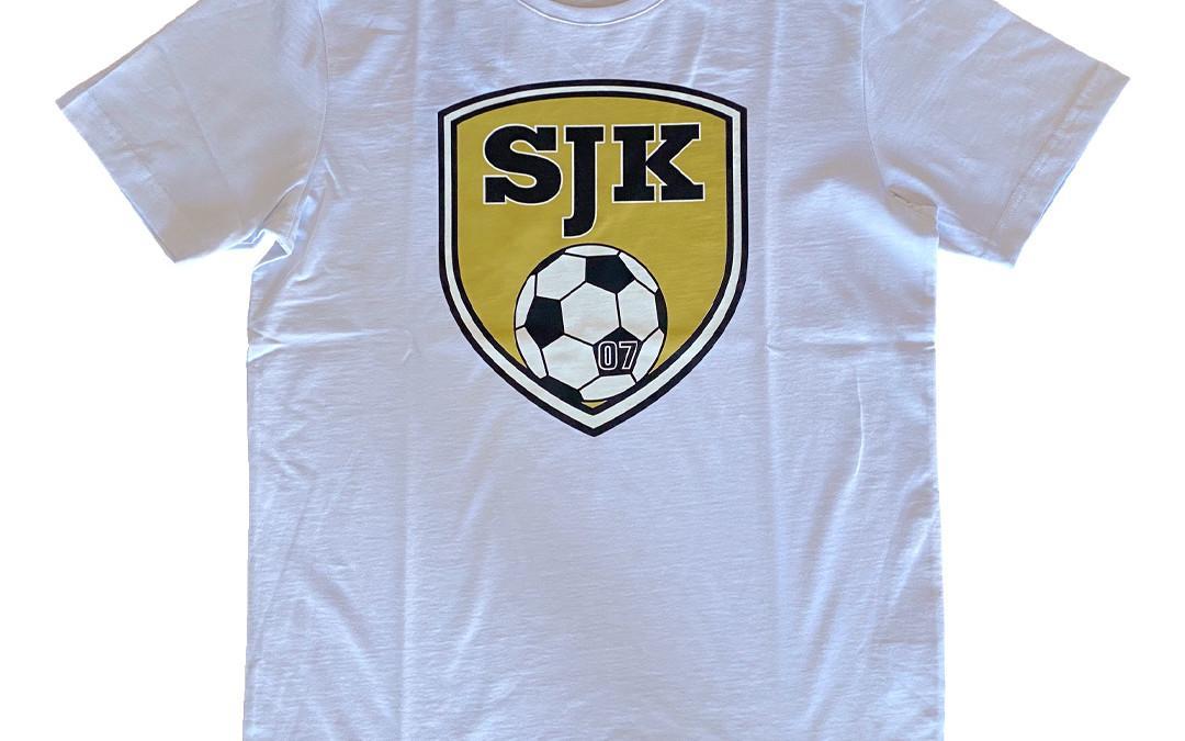 T-paita SJK-logolla, valkoinen