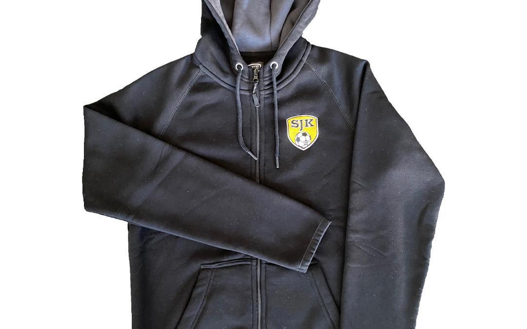 Vetoketjuhuppari SJK-logolla, musta
