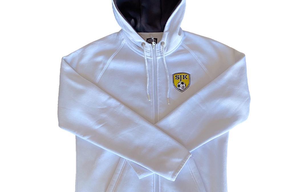 Vetoketjuhuppari SJK-logolla, valkoinen