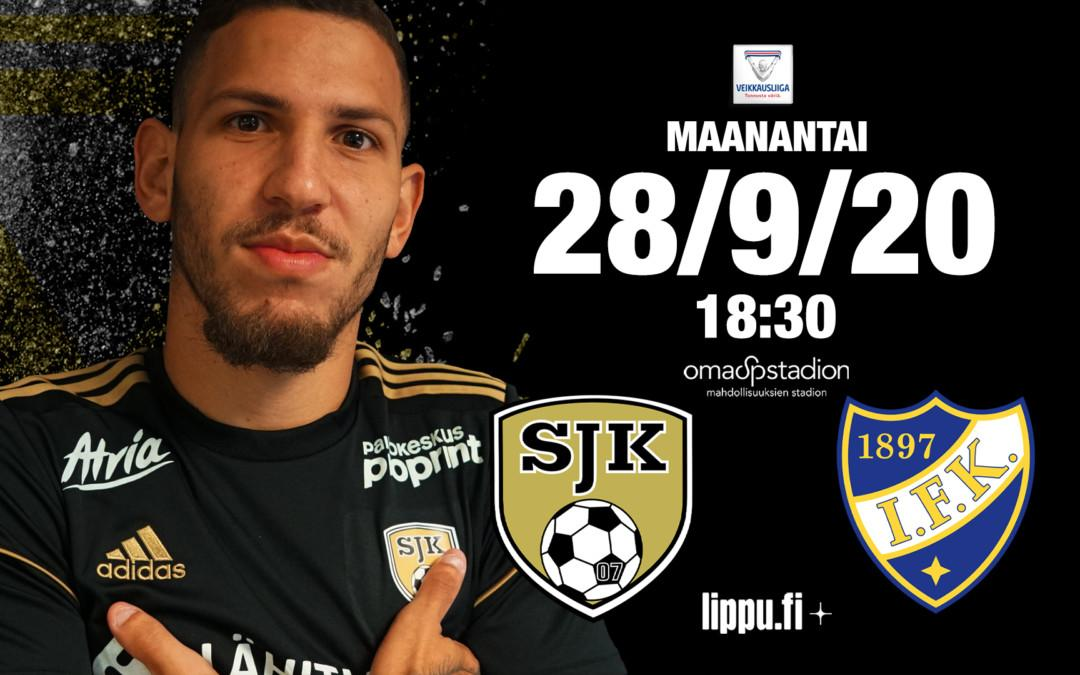Maanantaina SJK – HIFK klo 18:30 OmaSp Stadionilla