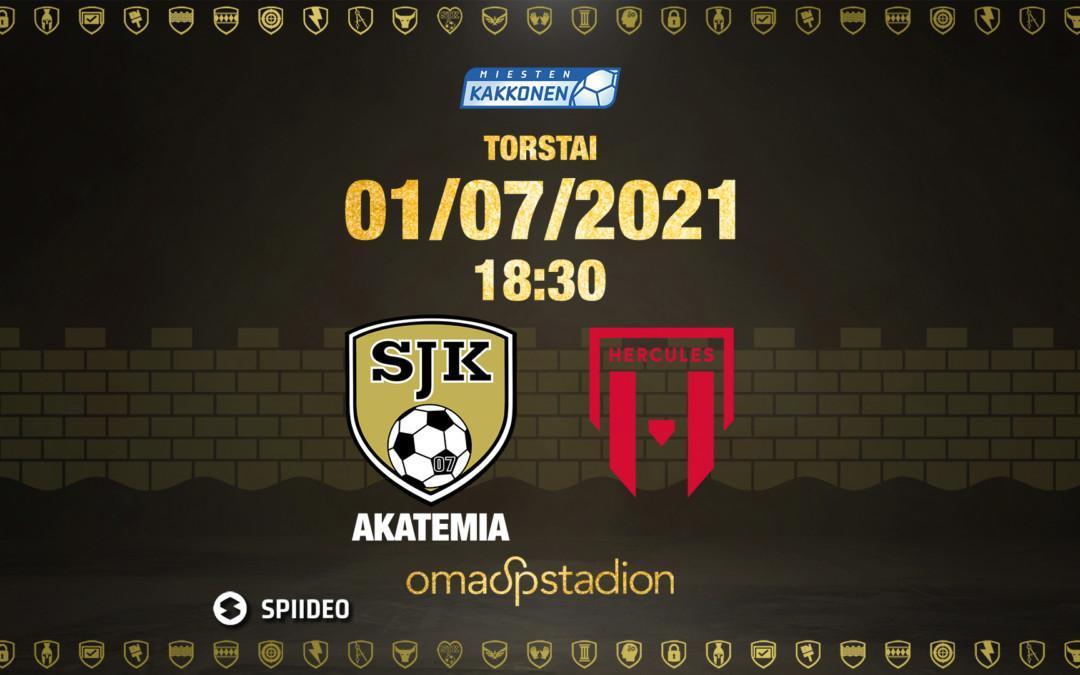 SJK Akatemialla kärkikamppailu OmaSp Stadionilla