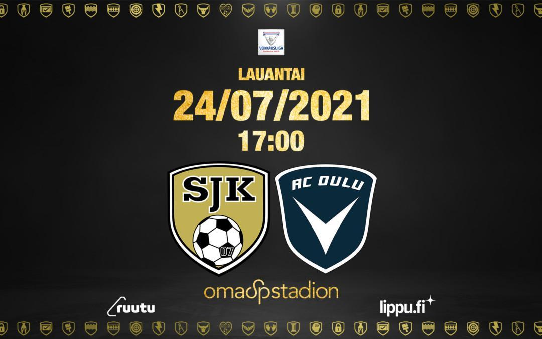 Lauantaina SJK – AC Oulu klo 17:00 OmaSp Stadionilla
