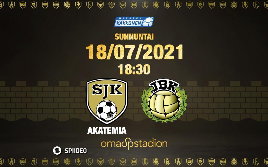 Otteluennakko: SJK Akatemia – JBK 18.7.2021
