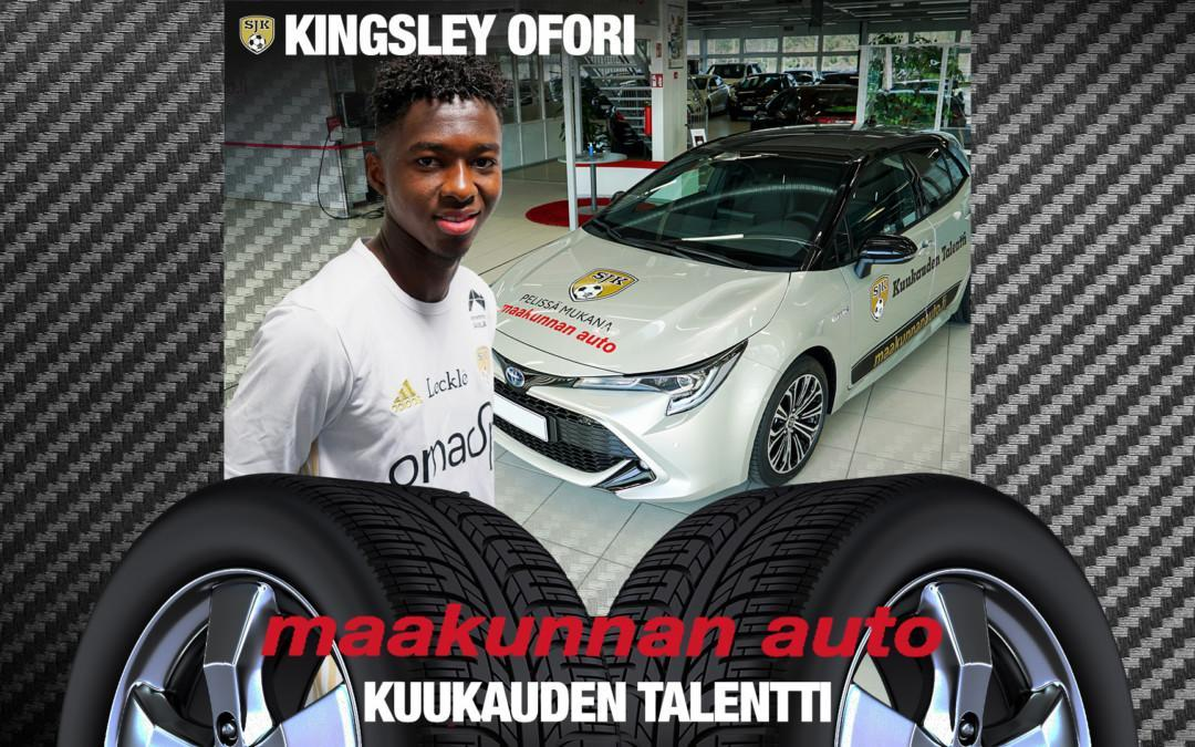 Kingsley Ofori on Maakunnan Auton kuukauden talentti