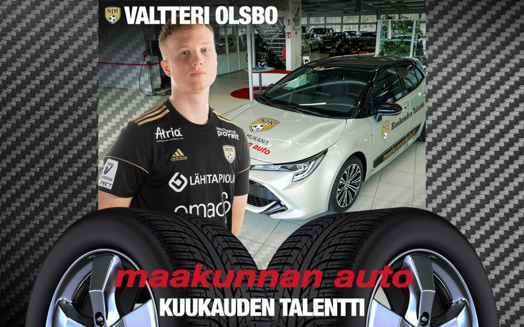 Maakunnan auton kuukauden talentti: Valtteri Olsbo