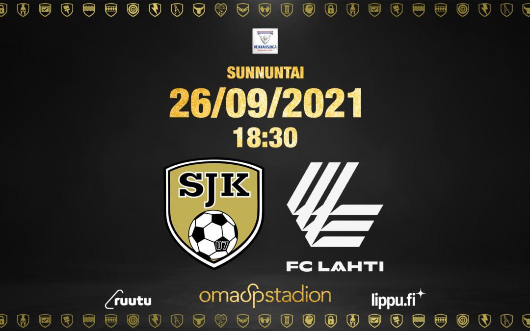 Otteluennakko: SJK – FC Lahti 26.9.2021