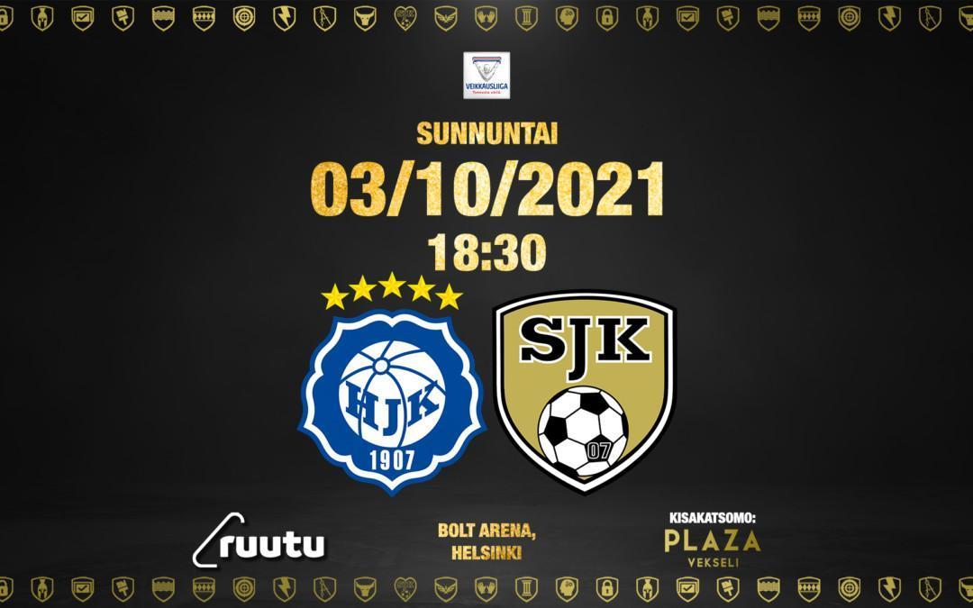 Otteluennakko HJK – SJK 3.10.2021